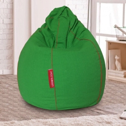 teardrop bean bag cover green